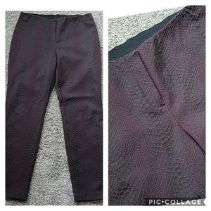 Alfani Black Purple Snake Skin Print Pants